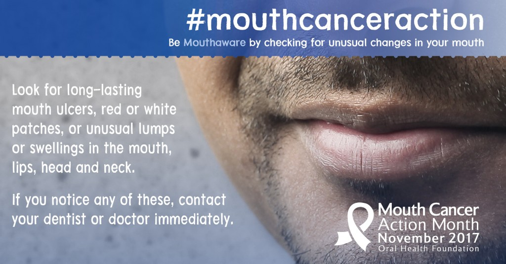 Mouth Cancer Action Month at Bridgeways Dental in Southampton New Forest