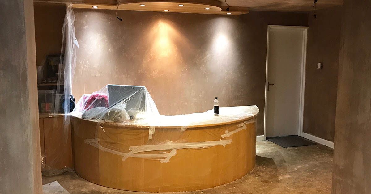 reception renovation dentist in new forest southampton