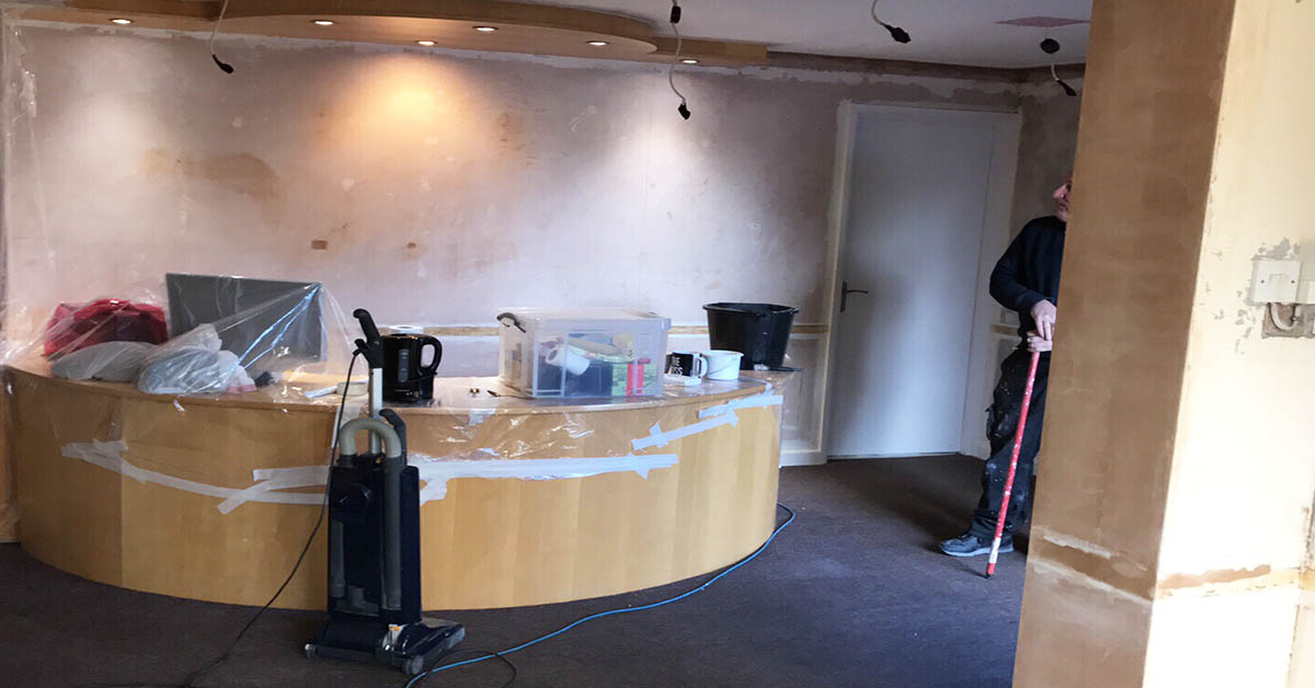 reception renovation dentist in totton southampton