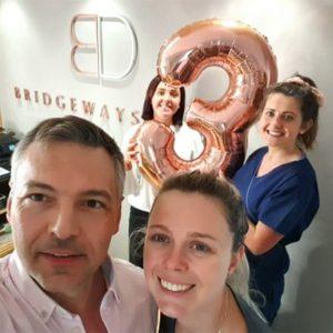 Bridgeways dental birthday anniversary